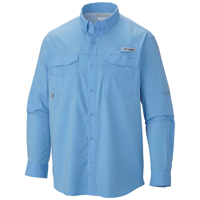Camisa Columbia PFG Blood and Guts III LS Woven Marine Blue
