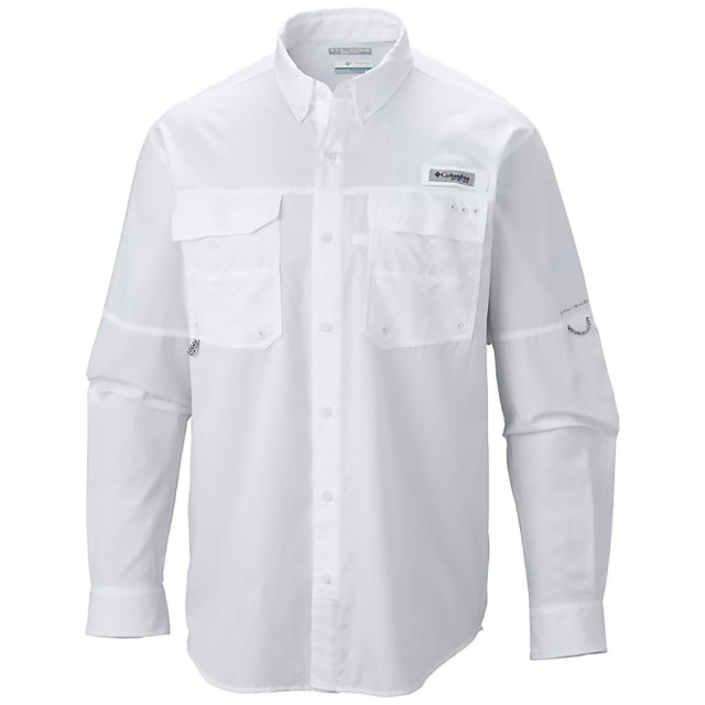 Camisa Columbia PFG Blood and Guts III LS Woven White
