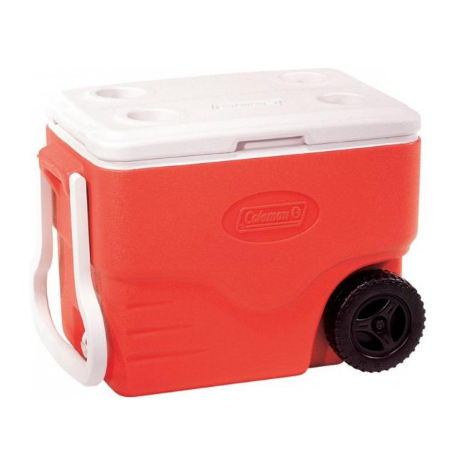 Caixa térmica Coleman com Rodas 40Qt Vermelha