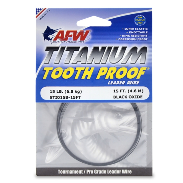 Leader AFW Titanium Tooth Proof 15 ft