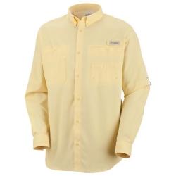 Camisa Columbia PFG Tamiami II ML Amarelo Sunlite