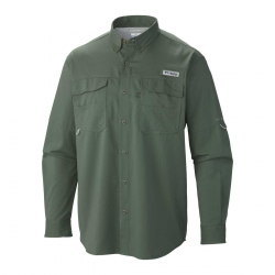 Camisa Columbia Blood and Guts III LS Woven Shirt Verde Escuro