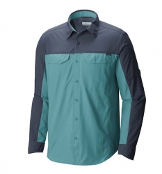 Camisa Columbia Silver Ridge Blocked Zinc