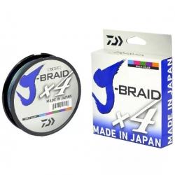 Linha Daiwa Multifilamento J-Braid X4 300m Multicolor