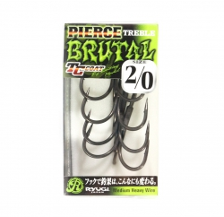 Garateia Ryugi Pierce Treble Hook Brutal TC Coat - 4 unidades
