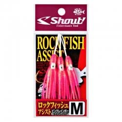 Assist Hook Shout Rock Fish Pink