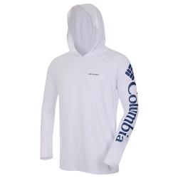 Camiseta Columbia Aurora Capuz Branca FPS 50+