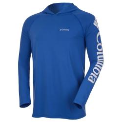 Camiseta Columbia Aurora Capuz Vivid Blue FPS 50+
