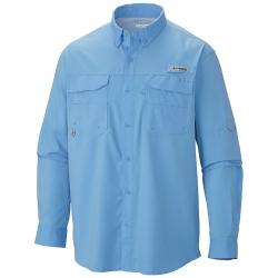 Camisa Columbia PFG Blood and Guts III LS Woven Marine Blue