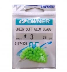 Miçanga Owner Green Soft Glow Beads